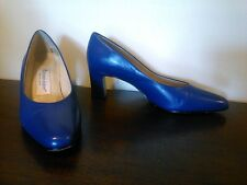 Vtg Etienne Aigner Spain Royal Blue Classic Pointed Toe Pumps Leather Women's 7M