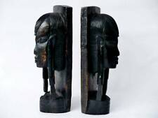 Antique African Tribal Art  Ebonised Figural Bookends