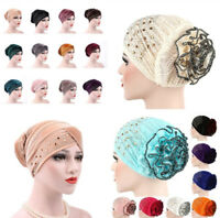 US Women Muslim Turban Hat Chemo Cap Hair Loss Head Scarf Wrap Cover Hijab Gift