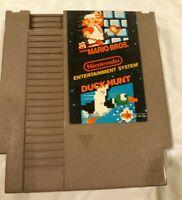 Super Mario Bros Duck Hunt Nintendo NES Original OEM Authentic Game!