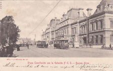 * ARGENTINA - Buenos Aires - Plaza Constitucion con la Estacion F.C.S.