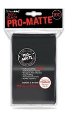 Ultra Pro 100 pouches Deck Protector Pro-Matte Black cards Standard 845155