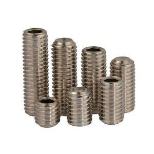 M2.5 M3 M4 M5 M6 M8 M10 12.9 grade concave end set screw Hexagon socket screws