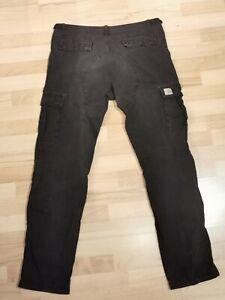 Carhartt Aviation Pant Cargo + Sweatshirt Vintage Black Grau 34/34 L