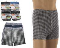12x Mens Cotton Blend Button Boxer Shorts Check Patterned Boxers Sizes S M L XL