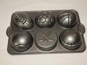 Nordic Ware All Star Muffin mold Pan  Sports  Football Baseball Basketball Socce