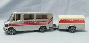 Vintage SIKU Mercedes 208 Minibus Airport Service Set - Made in West Germany