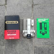Fujica Single-8 Film Splicer Roll Type w/ Tape and Manual VG Condition - Boxed