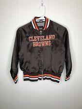 NFL Cleveland Browns Pullover Jacket Size Kids Medium Vintage Rare Collectible