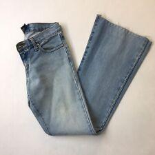 Gripp Jeans Light Wash Flare Denim Jeans, Size 6 Hemmed