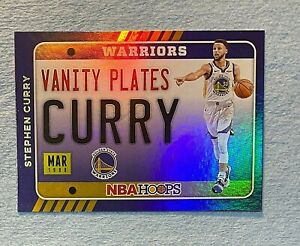 2020-21 Hoops Vanity Plates Holo #16 Stephen Curry
