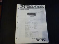 Original Service Manual Sony XR-5700RDS/5701RDS