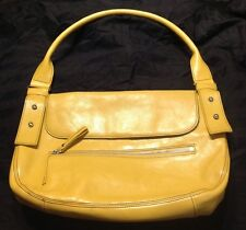 Kenneth Cole New York Purse Flap Satchel Shoulder Bag Mustard Yellow Handbag