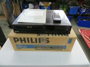 Vintage Phillips VR6548/56S Video Recorder with manual & handset - Boxed