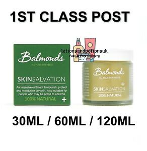 Balmonds Skin Salvation Ointment - 30ml 60ml 120ml For Dry Itchy Skin 1ST CLASS