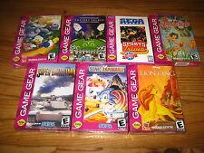 Lot de 7 Jeux neufs pour Gamegear