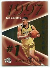 1997 Press Pass Double Threat Lotto 1a Tim Duncan Rookie
