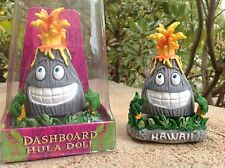 "Hawaii VOLCANO Hula Dancer Dashboard Doll Bobblehead 4"" Tall"