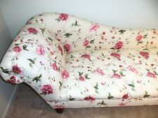 Beautifully Embroidered Floral Chaise, never used. Perfect condition