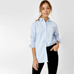 JACK WILLS Evelyn Classic Shirt Womens Blue Size UK 16 *REF181