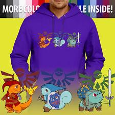 Pokemon Legend of Zelda Link Nintendo Game Ninja Pullover Hoodie Hooded Sweater