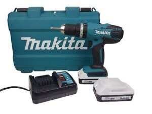 Makita HP457DWE Akku-Schlagbohrschrauber Softgriff 18V 2x 1,3Ah Li-Ion Akku