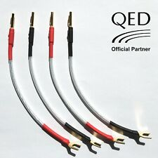 QED XT25 JUMPER LINKS Performance Speaker Cable 4 x 20cm Banana Plugs - Spades