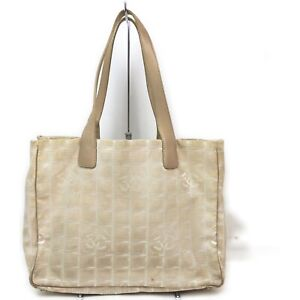 CHANEL Tote Bag New Travel Line Beiges Nylon 710617