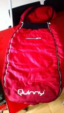 Quinny footmuff in red with bag FREE POST