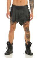 L*Gladiator Kilt Echt Leder Roman Style Legionär Rock Schwarz Typ B ®leder-joe