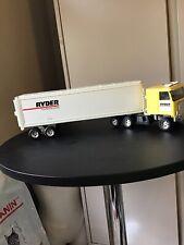 Rare Vintage Ertl Ryder Truck Rental & Leasing Cab And Trailer