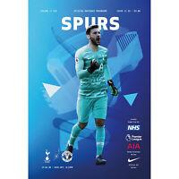Tottenham v Manchester United 19th June 2020 Official Matchday Programme