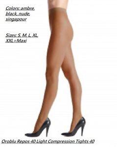 Oroblu Repos 40 light support pantyhose, control top, graduated compression
