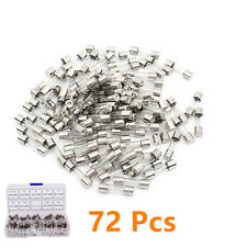 72In1 6*30mm 0.5-30AMP Car Mini Assorted Set Kit Blade Fuse Fast Quick Blow Tube