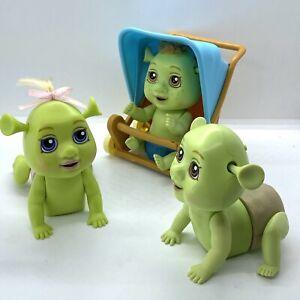 Shrek 3 Out Of Control Triplets Baby Ogre Electronic Toys + Stroller (2007)