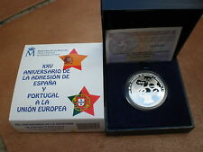 ESPAÑA: 10 euros plata 2011 proof Adhesión España y Portugal a la Union Europea