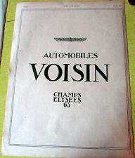 VOISIN / AUTOMOBILES / 1924 /  AUTOMOBILE  PUBLICITE ANCIENNE