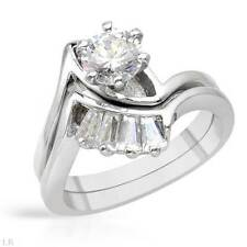Lovely  Wedding Set Ring W/2.05ctw CZ in 925 Sterling Silver Size 7