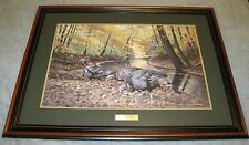 "Jim Kasper ""ACORN HUNT TURKEYS"" Signed LE 236/750 COA Art Print 25x33"""
