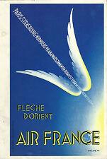 Menu AIR FRANCE Flèche d'Orient Complet avec menu Paris Moscou Aéronautique