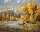 Robert Peters Autumn Brook Signed Open Edition Giclee on Canvas