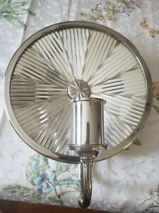 "RARE Ralph Lauren Home ""Rivington"" Polished Nickel Round Sconce~10"" Diameter~NEW"