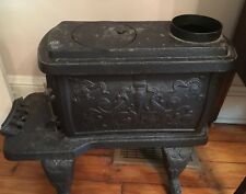 Antique Cast Iron Box Stove Yule 18 Great Detail From 1880 Home