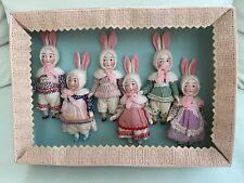 6 antique porcelain dolls - Googly - in the original box - Kestner