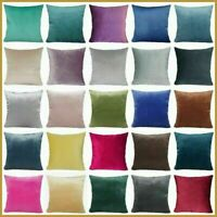 "Cushion COVER Microfiber Velvet Premium Soft Decorative Throw Pillow Case 18x18"""