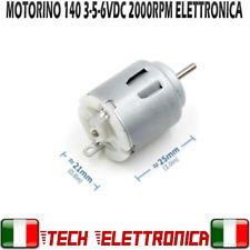 MOTORINO DC elettrico 3V 6V MINI MOTORE 2000RPM Motorino Arduino