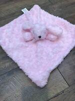 Blankets and Beyond & Pink Bunny Baby Security Blanket Minky Swirls Nunu     B11