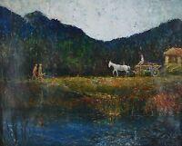 Old European Impressionist Oil Painting Interesting
