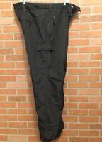 Mambosok Mens 2XL Snowboard Ski Pants Adjustable Waist Black Pockets 2X