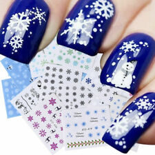 30 Sheets Nail Art Water Decal Stickers Snowflake Christmas Watermark Decors New